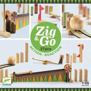 Jeu de construction action-réaction en bois Zig & Go à partir de 7 ans vendu par rêves de fil.