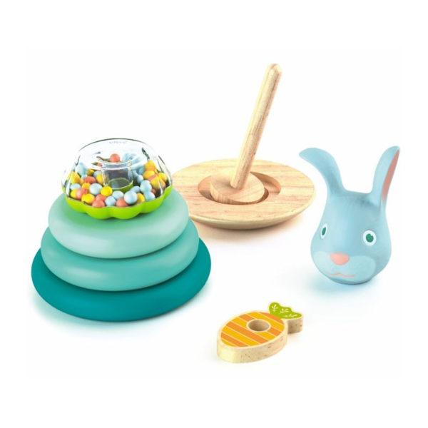 djeco jeu d'empilage lapin cascarott vendu par rêves de fil