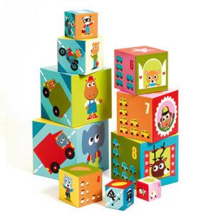 cube premier age djeco, jeu d'éveil vendu par reves de fil