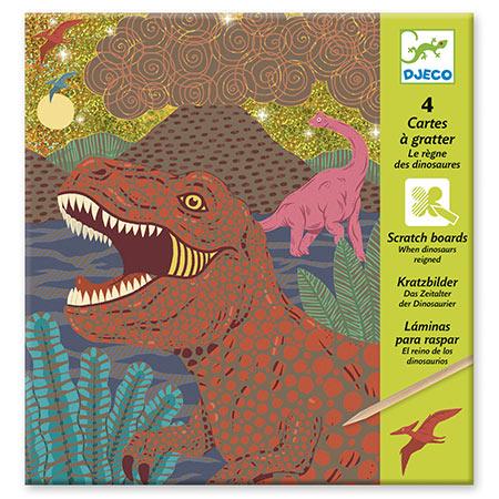 djeco carte à gratter des dinosaures vendu par rêves de fil