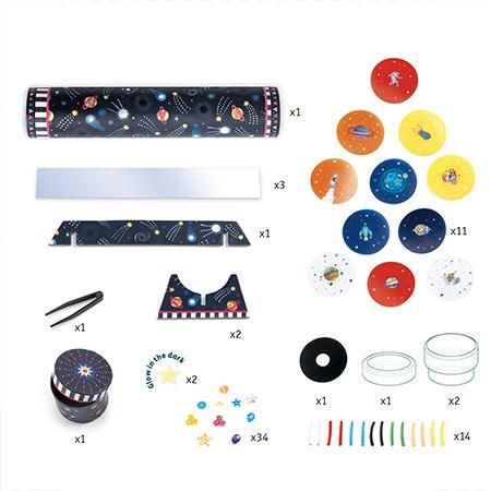 Djeco-DIY- kaléidoscope à fabriquer vendu par reves de fil