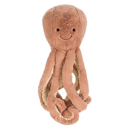 Jellycat peluche pieuvre rose vendu par rêves de fil