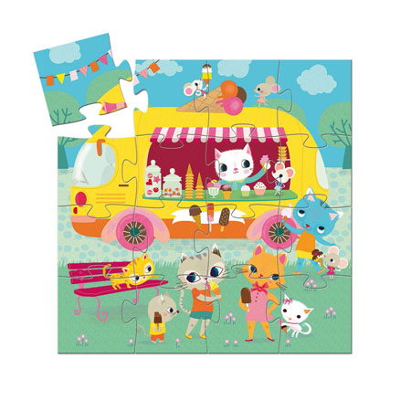 jouet djeco puzzle 16 pièces vendu par rêves de fil