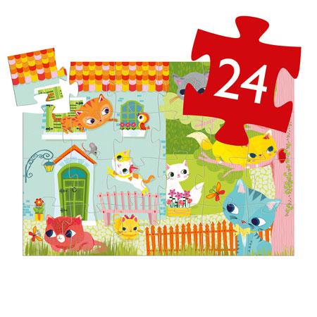 jouet djeco puzzle 24 pièces vendu par rêves de fil