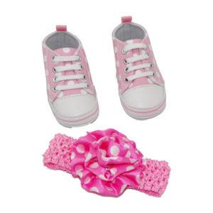 Chaussures Bébé filles et bandeau