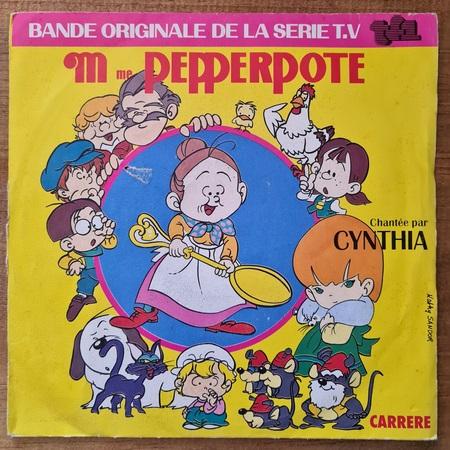 Disque vinyle 45 tours Mme Pepperpote pour enfant vendu par Rêves de Fil.