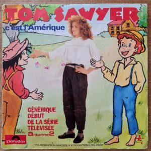 Disque vinyle 45 tours Tom Sawyer pour enfant vendu par Rêves de Fil.