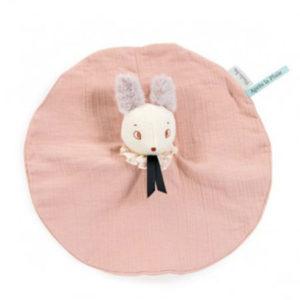 Doudou personnalisable souris rose, vendu par rêves de fil.