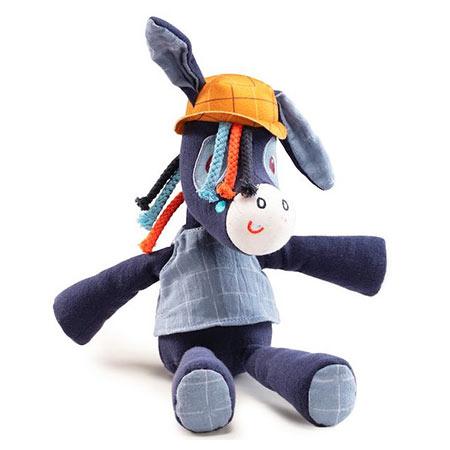 Ignace âne peluche en coton bio - Lilliputiens vendu par rêves de fil