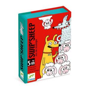 Jeu de carte Swip'Sheep - jeu de stratégie Djeco vendu par rêves de fil