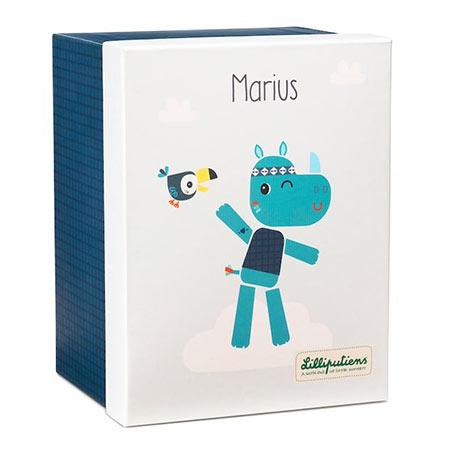 Marius peluche en coton bio - Lilliputiens vendu par rêves de fil