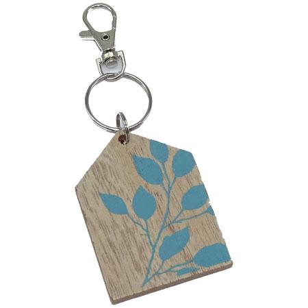 porte clés en matériau composite de fibres de bois et fer vendu par rêves de fil