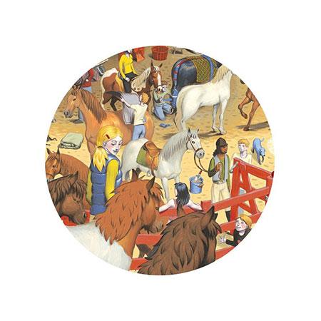 Puzzle d'observation équitation - Djeco vendu par rêves de fil