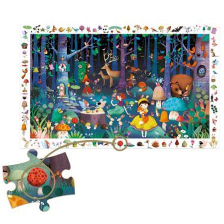 Puzzle d'observation La forêt enchantée (100 pièces) Djeco vendu par reves de fil