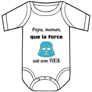 Idée cadeau naissance originale body humoristique bébé vendu par rêves de fil