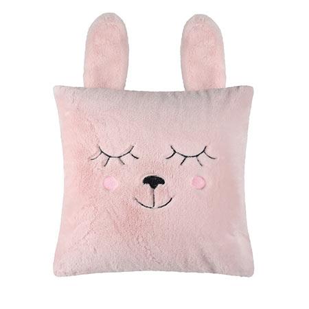 coussin pimprenelle lapin rose vendu par rêves de fil