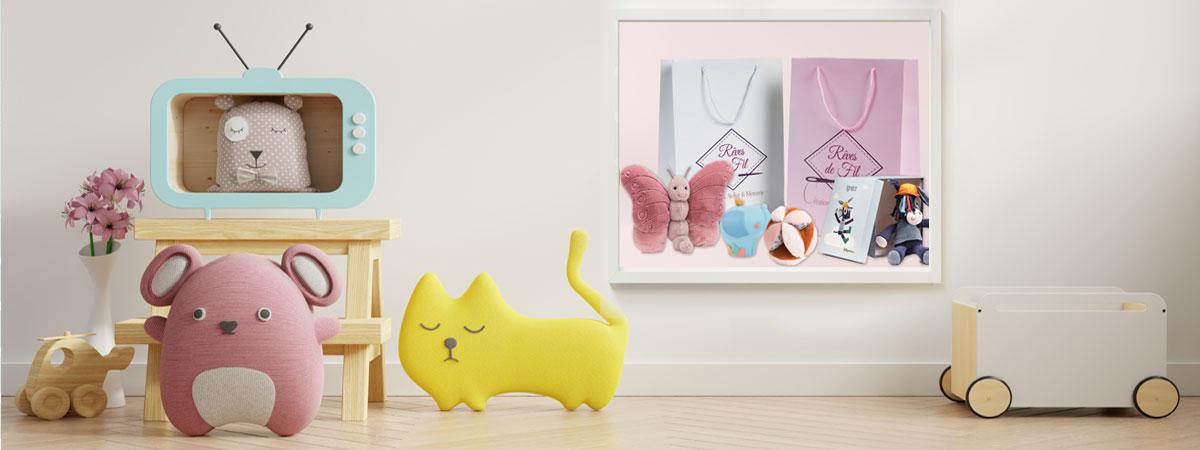 boutique reves de fil pour bébé et enfant objet personnalisé destockage