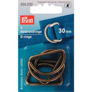 Anneaux demi-ronds pour fermoirs pour sac à main. De nombreuses tailles et épaisseurs disponibles. 30mm vendu par rêves de fil